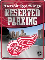 Detroit Red Wings Metal Reserved Parking Sign