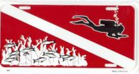 Dive Flag with Diver License Plate