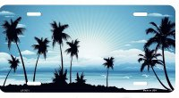 Sunset Blue Metal License Plate
