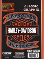 Harley-Davidson - Live to Ride with Bar & Shield - Classic Graph