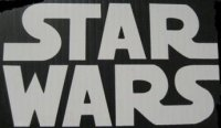 "Star Wars Logo White 4"" x 4"" Decal"