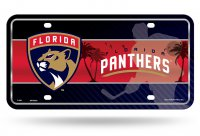 Florida Panthers Metal License Plate