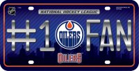 Edmonton Oilers #1 Fan Metal License Plate