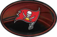 Tampa Bay Buccaneers Chrome Die Cut Oval Decal