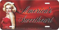 Marilyn Monroe America's Sweetheart Metal License Plate