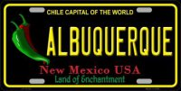 Albuquerque New Mexico Black State Metal License Plate