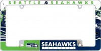 Seattle Seahawks All Over Chrome License Plate Frame