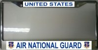 Air National Guard Photo License Plate Frame