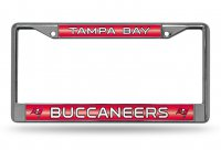 Tampa Bay Buccaneers Glitter Chrome License Plate Frame