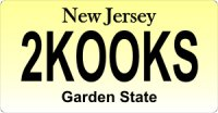 Design It Yourself New Jersey State Look-Alike Bicycle Plate