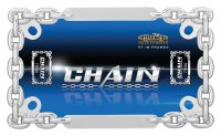 Chrome Chain Link Motorcycle License Plate Frame