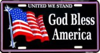 United We Stand - God Bless America License Plate