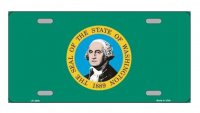 Washington State Flag Metal License Plate