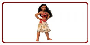 Moana On White Photo License Plate
