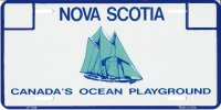 Nova Scotia Metal License Plate