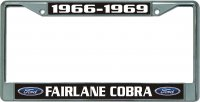 Ford Fairlane Cobra Chrome License Plate Frame