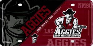 NEW Mexico State Aggies Metal License Plate