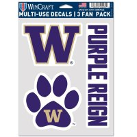 Washington Huskies 3 Fan Pack Decals