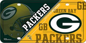 Green Bay Packers Metal License Plate