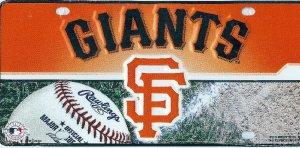 San Francisco Giants Metal License Plate San Francisco