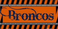 Denver Broncos Construction License Plate