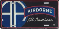 Airborne All American Metal License Plate