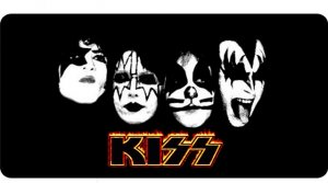 Kiss The Rock Band Photo License Plate Kiss The Rockband