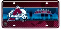 Colorado Avalanche Metal License Plate