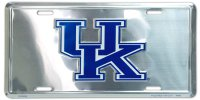Kentucky Wildcats Anodized Metal License Plate