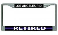 Los Angeles P.D. Thin Blue Line Retired Chrome Frame