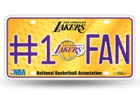 Los Angeles Lakers #1 Fan License Plate