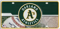 Oakland Athletics Metal License Plate