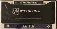 Winnipeg Jets Chrome License Plate Frame