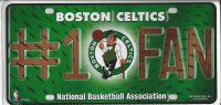 Boston Celtics #1 Fan License Plate