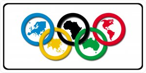 Olympic RINGs Photo License Plate