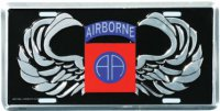 "82nd Airborne ""AA"" Wings License Plate"