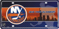 New York Islanders Metal License Plate