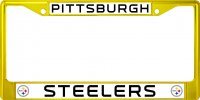 Pittsburgh Steelers Anodized Yellow License Plate Frame