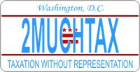 Design It Yourself Custom Washington DC State Look-Alike Plate