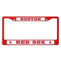 Boston Red Sox Anodized Red License Plate Frame