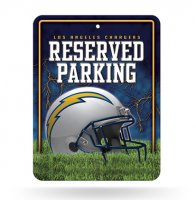 Los Angeles Chargers Metal Parking Sign