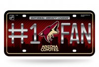 Arizona Coyotes #1 Fan Metal License Plate
