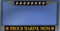 Proud Marine Mom Photo License Plate Frame
