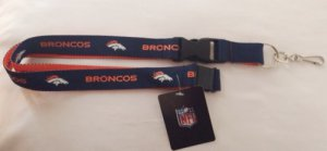 Denver Broncos Two Tone Lanyard With Safety Latch