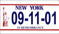 9/11 New York Motorcycle State Look-Alike Plate
