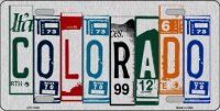 Colorado Cut Style Metal License Plate