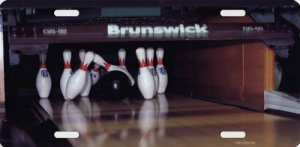 BOWLING Alley Photo License Plate