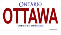 Ontario Ottawa Photo License Plate