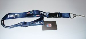 New England Patriots Lanyard With Safety Latch
