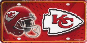 Kansas City Chiefs Metal License Plate